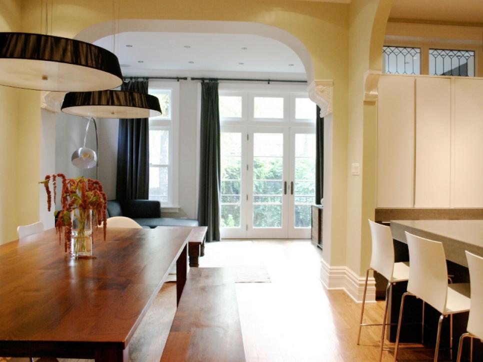 дизайн гостиных совмещенных с кухней